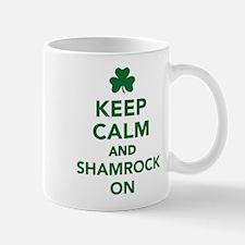 Keep calm and shamrock on Small Small Mug