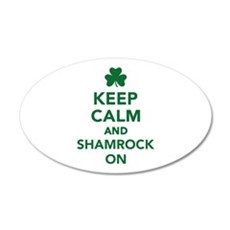 Keep calm and shamrock on Wall Decal