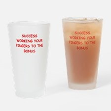 success Drinking Glass