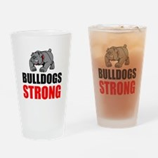 Bulldogs Strong Drinking Glass