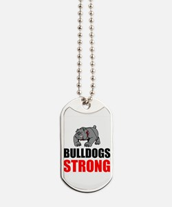 Bulldogs Strong Dog Tags
