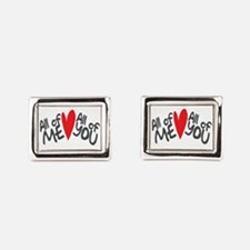 All of me loves all of you Rectangular Cufflinks