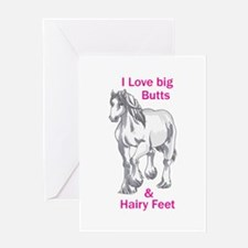 I LOVE BIG BUTTS Greeting Cards