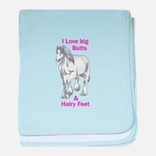 I LOVE BIG BUTTS baby blanket