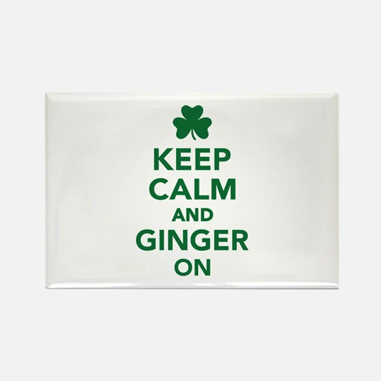 Keep calm and ginger on Rectangle Magnet