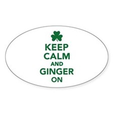 Keep calm and ginger on Decal