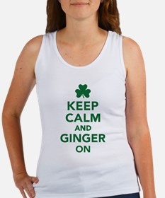 Keep calm and ginger on Women's Tank Top