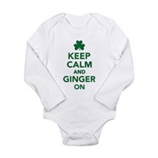 Keep calm and ginger o Long Sleeve Infant Bodysuit