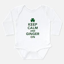 Keep calm and ginger o Long Sleeve Infant Bodysuit