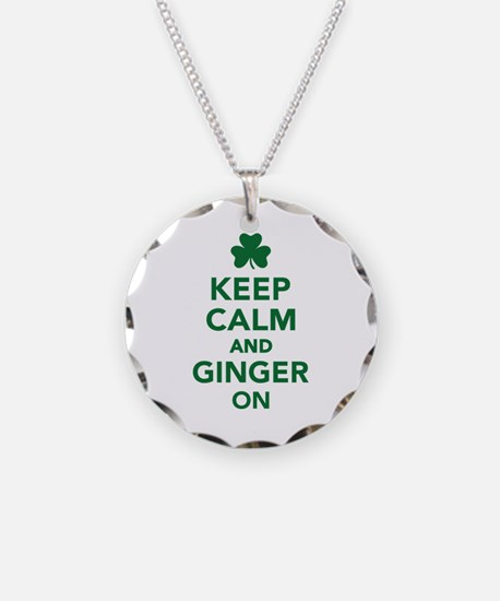 Keep calm and ginger on Necklace