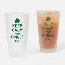 Keep calm and ginger on Drinking Glass