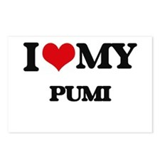I love my Pumi Postcards (Package of 8)