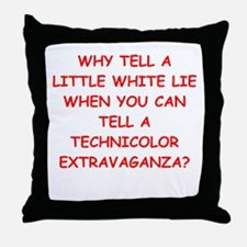 lying Throw Pillow