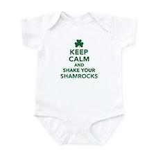 Keep calm and shake your shamrocks Infant Bodysuit