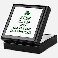 Keep calm and shake your shamrocks Keepsake Box