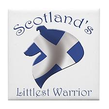 Scotland's Littlest Warrior Tile Coaster