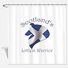 Scotland's Littlest Warrior Shower Curtain
