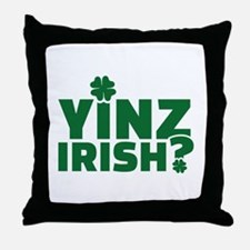 Yinz irish Throw Pillow