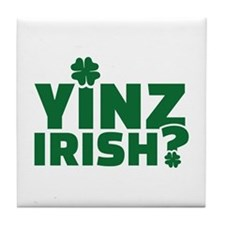 Yinz irish Tile Coaster