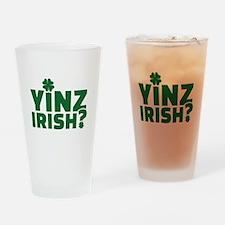 Yinz irish Drinking Glass