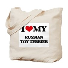 I love my Russian Toy Terrier Tote Bag