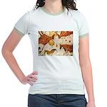 ANCIENT LASCAUX BULLS Jr. Ringer T-Shirt