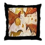ANCIENT LASCAUX BULLS Throw Pillow