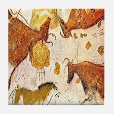 ANCIENT LASCAUX BULLS Tile Coaster
