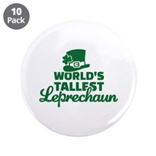 "World's tallest Leprechaun 3.5"" Button (10 pack)"