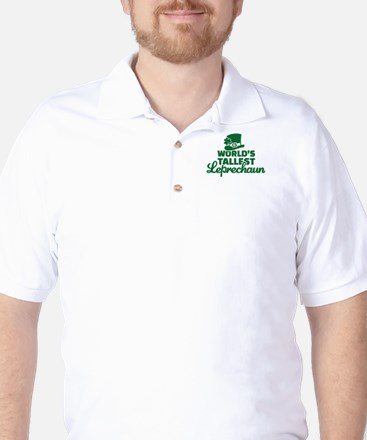 World's tallest Leprechaun Golf Shirt