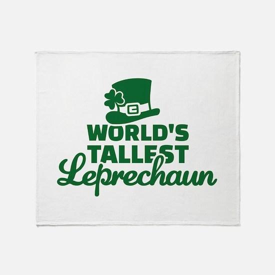 World's tallest Leprechaun Throw Blanket