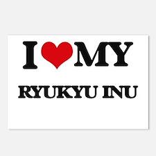 I love my Ryukyu Inu Postcards (Package of 8)