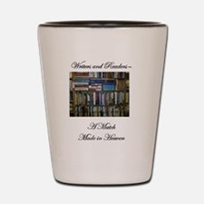 Writers and Readers Shot Glass