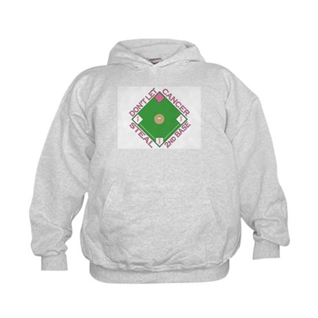 Don't Let Cancer Steal 2nd Base Kids Hoodie