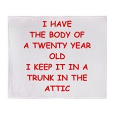 sic joke Throw Blanket