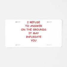 guilty Aluminum License Plate