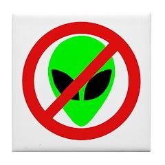 No More Aliens Tile Coaster