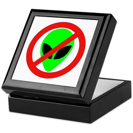 No More Aliens Keepsake Box