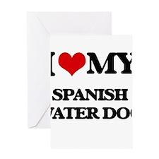 I love my Spanish Water Dog Greeting Cards