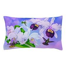 Dazzlin' Hummers, Cattleya Orchids Pillow Case