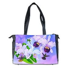Dazzlin' Hummers, Cattleya Orchids Diaper Bag