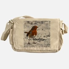 Robin in the Snow Messenger Bag