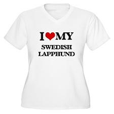 I love my Swedish Lapphund Plus Size T-Shirt
