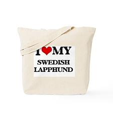 I love my Swedish Lapphund Tote Bag
