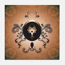 Insight, foresight rune Tile Coaster