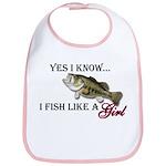 Fish like a girl Bib