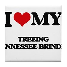I love my Treeing Tennessee Brindle Tile Coaster