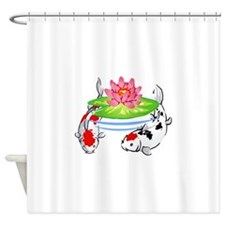 KOI AND LILYPAD Shower Curtain