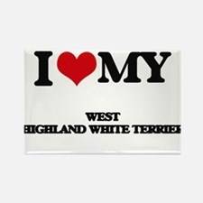 I love my West Highland White Terrier Magnets