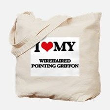 I love my Wirehaired Pointing Griffon Tote Bag